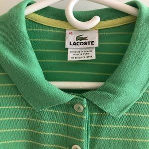 Lacoste Tops - Lacoste Women's 3/4 Sleeve Polo - size 8- size 40